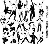dancing and party men vector | Shutterstock .eps vector #7923250