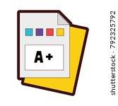 full color education...   Shutterstock .eps vector #792325792