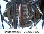 metal staircases  stairs   view ... | Shutterstock . vector #792326122