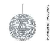party disco sphere icon. flat... | Shutterstock .eps vector #792329548