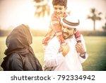 arabian family portrait in the... | Shutterstock . vector #792334942
