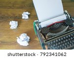 Old Typewriter And Crumpled...