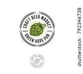 beer pub emblem. hop cone logo. ...   Shutterstock .eps vector #792346738