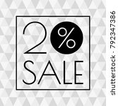 20  sale icon. discount banner... | Shutterstock . vector #792347386