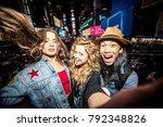 group of friends having fun in... | Shutterstock . vector #792348826