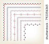 vercotr set of decorative... | Shutterstock .eps vector #792356365