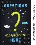 classroom motivational poster... | Shutterstock .eps vector #792368722
