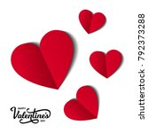 happy valentine's day card with ... | Shutterstock .eps vector #792373288