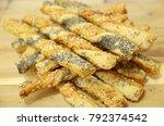 tasty baked breakfast with... | Shutterstock . vector #792374542