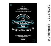 valentine day sale banner | Shutterstock .eps vector #792376252