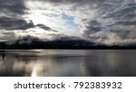 clouds reflecting in a lake... | Shutterstock . vector #792383932