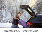 handsome man going to vacations ... | Shutterstock . vector #792391282