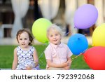 little boy and girl having fun... | Shutterstock . vector #792392068
