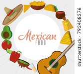 mexican food icon set design | Shutterstock .eps vector #792408376