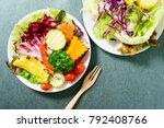 top view of mixed vegetables...   Shutterstock . vector #792408766