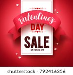 valentines day sale text vector ... | Shutterstock .eps vector #792416356