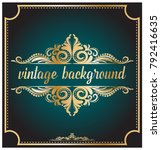 luxury background with royal... | Shutterstock .eps vector #792416635