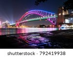 vivid sydney   harbour bridge | Shutterstock . vector #792419938
