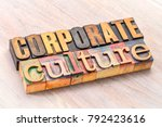 corporate culture word abstract ... | Shutterstock . vector #792423616
