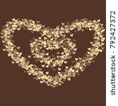 heart brown pattern which... | Shutterstock .eps vector #792427372
