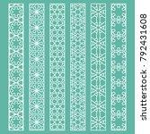vector set of line borders with ... | Shutterstock .eps vector #792431608
