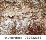 wall with gold plate in the... | Shutterstock . vector #792432358