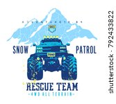rescue team  car  sport  vector ... | Shutterstock .eps vector #792433822