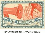gig poster flyer art template | Shutterstock .eps vector #792434032