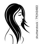 illustration beauty face girl... | Shutterstock .eps vector #79243483
