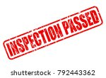 inspection passed red stamp... | Shutterstock .eps vector #792443362