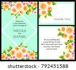 vintage delicate invitation... | Shutterstock .eps vector #792451588