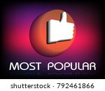banner most popular. popular... | Shutterstock .eps vector #792461866