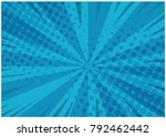 abstract blue striped retro... | Shutterstock .eps vector #792462442