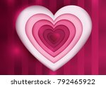 happy valentine s day vector... | Shutterstock .eps vector #792465922