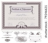 romantic certificate or coupon... | Shutterstock .eps vector #79246621