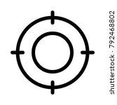 target point focus  | Shutterstock .eps vector #792468802