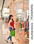 shopping concept. asian girls... | Shutterstock . vector #792469696