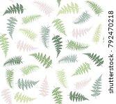 fern frond herbs  tropical... | Shutterstock .eps vector #792470218