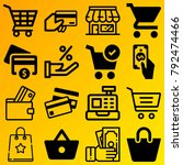 shopping vector icon set... | Shutterstock .eps vector #792474466