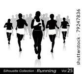 jogging in the city | Shutterstock .eps vector #79247836