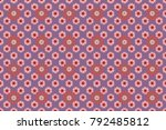 seamless floral pattern ... | Shutterstock . vector #792485812