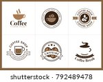 set of coffee logo and label.... | Shutterstock .eps vector #792489478