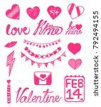 valentine symbol icon heart... | Shutterstock . vector #792494155