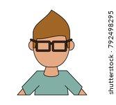 geek man cartoon   Shutterstock .eps vector #792498295