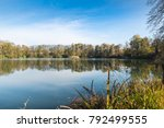small lake called pond or... | Shutterstock . vector #792499555