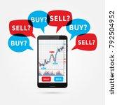 forex trade candlestick graph... | Shutterstock .eps vector #792504952