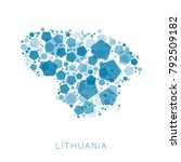 map of lithuania filled with...   Shutterstock .eps vector #792509182