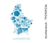 map of luxembourg filled with...   Shutterstock .eps vector #792509236