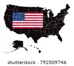 simple black map of united... | Shutterstock .eps vector #792509746
