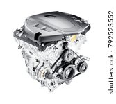 modern car engine isolated on... | Shutterstock . vector #792523552